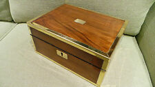 0616/185 Antique Mahogany/Rosewood Writing Box Restored