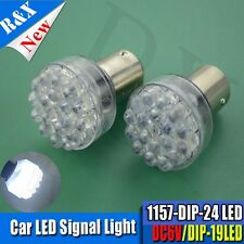 2x 24 LED 6V White Car Bulb 1157 bay15d Light Rear/Stop/Tail/Stop/Reverse Lamp