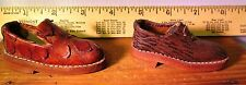 Miniature Lot (2) Men's Leather Shoes Salesman's Samples Vintage ADORABLE
