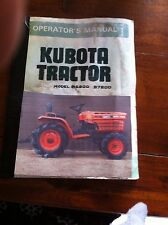 Kubota tractor manual paper version