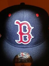 NEW ERA FITTED MLB 59FIFTY HAT CAP Boston RED SOX BLACK/RED 7  1/2
