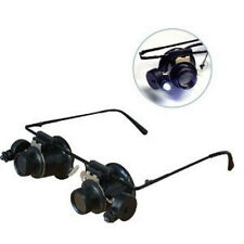 10X Hand Free Dual Illuminated Loupe On Eye Glass Frame #MG1312S US FREE SHIPPER