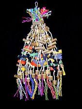 Papageienspielzeug: RIESENKNABBERSPAß, Naturholz, 85 cm ++ *Wow* ++