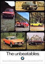 BMW 2002 2000 TOURING 2002 tii 2500 3.0CSi E6 E9 E10 E3 POSTER A3 FROM ADVERT