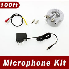 [100ft length] Microphone Kit for Swann Surveillance Security System