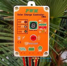 waterproof Solar led Light controller 12V 24V 10A PWM Battery charge Regulator
