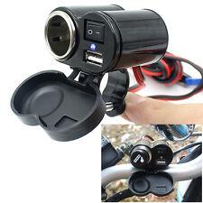 12-24V 1.5A Motorcycle USB Port Power Charger Cigarette Lighter Socket for GPS