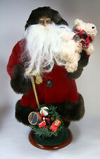 "17"" Alpine Chic Standing Santa Claus Old Saint Nick Christmas Figurine Holiday"