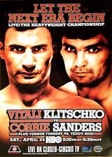 Vintage Original Vitali Klitschko vs. Corrie Sanders Boxing Fight Poster