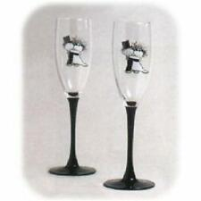 Children of the Inner Light Wedding Toasting Glass Set NIB Bride Groom Champagne
