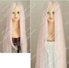 Cos light pink long straight cosplay WIG 100cm Free shipping