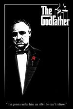 the Godfather - RED ROSE Movie Poster Single Sided 24X36 inches