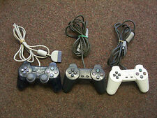 3 OFFICIAL PLAYSTATION 1 PSONE CONTROLLERS *WHITE, CLEAR & BLACK* FULLY WORKING