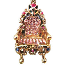 BETSEY JOHNSON QUEEN CASTLE Fox Crystal Jewel IMPERIAL THRONE STATEMENT NECKLACE