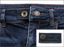 Blue Denim Pants Shorts Jeans Waist Line Extension Expander Extend Size Button