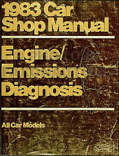 1983 Lincoln Engine Diagnosis Manual Mark VI Continental Town Car Emissions Shop