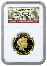 2015-W $10 Mamie Eisenhower First Spouse 1/2 Oz Proof Gold NGC PF69 FR SKU35452