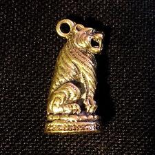 Thai Amulets Magic Tiger Brass Figurine Pendant Power Wealth Rich Lucky Charm