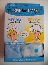 Turbie Twist The Original Hair Towel Wet Shower Cap Dry Bath Spa OSFM NIP