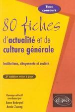 80 fiches d'actualité et de culture générale Rebeyrol  Anne Occasion Livre