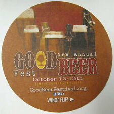 GOOD BEER 4TH ANNUAL FESTIVAL, 11TH AUTUMN WINE Beer COASTER, Mat, MARYLAND 2014
