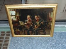 Nice Antique signed J. Stoll 19th century Oil Painting on Canvas