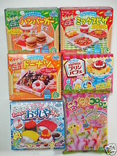 6 Pcs Japanese DIY Candy Kits Kracie Popin Cookin Happy Kitchen Mini Food Making