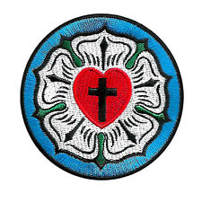 LUTHER ROSE SEAL LUTHERAN CHURCH SYMBOL CHRISTIAN CROSS EMBROIDERED PATCH EMBLEM