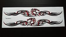 2 pc Body Hood Graphic Decal Sticker Racing Car Motocross Bike Skateboard Dragon