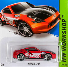 2014 - Hot Wheels - NISSAN 370Z (Red) - Card #249 - HW Workshop