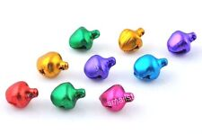 100 pcs Mixed color Christmas Ornaments Jingle Bells Beads Charms Findings 8mm