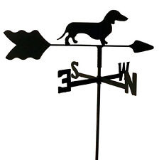 DACHSHUND  GARDEN STYLE WEATHERVANE BLACK WROUGHT IRON  MADE IN USA TLS1011IN