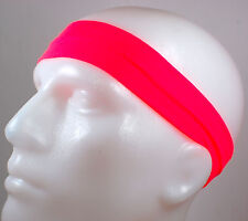 "NEW! 2"" Super Soft Neon Pink Hot Hair Band Head Sports Sweat Headband Stretchy"