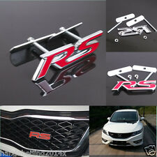 Car Suv 3D Metal Alloy Front Grille Grill Badge Emblem Decals RS Logo Sticker