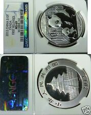CHINA 2012 PANDA SILVER COIN . NGC MS 69  FIRST RELEASES