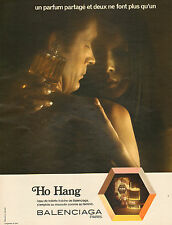 Publicité  Advertising 1972  Parfum Ho Hang de BALENCIAGA