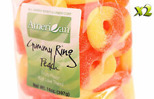 28oz Gourmet Style Bags of Chewy Peach Gummy Rings [1 3/4 lb.]