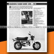 ★ SUZUKI RV 90 & 125 VAN VAN VANVAN ★ 1979 Essai Mini Bike / Road Test #a312