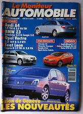 Le moniteur Automobile 1/3/2001; Salon de Genève/ Audi A4/ BMW Z3/ Opel Vectra