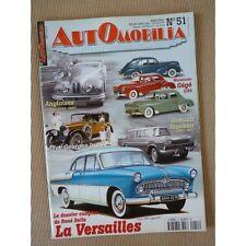 Automobilia n°51, Simca Vedette 55-57, Renault Rambler, Georges Irat, Triumph TR
