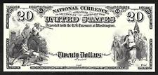 Proof Print by the BEP - Face of 1882 $20 (2nd Charter) National Bank Note