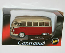 Cararama - VW Volkswagen SAMBA Bus (Red) Model Scale 1:43