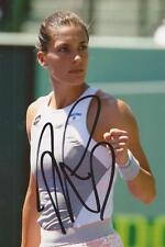 TENNIS: ANDREA PETKOVIC SIGNED 6x4 ACTION PHOTO+COA *WIMBLEDON* *PROOF*