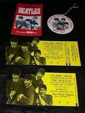 """THE BEATLES 1964 """"A HARD DAYS NIGHT"""" New Royal Theatre Movie Two Tickets & More"""