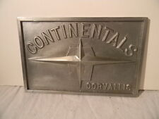 1960'S LINCOLN CONTINENTALS CAR CLUB PLAQUE CORVALLIS OREGON ORIGINAL REAL ONE