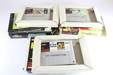 SNES NINTENDO CALCIO LOTTO SUPER Striker KICK OFF FIFA INTERNATIONAL SOCCER PAL