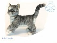 Standing Grey Kitten  Plush Soft Toy Cat by Hansa. 6499