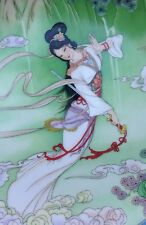 ~Vintage~ CHINESE 1989 IMPERIAL JINGDEZHEN PORCELAIN LADY WHITE RARE PLATE