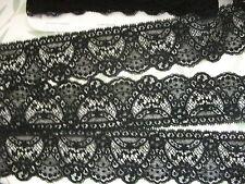 Nottingham Cotton Cluny Lace Vintage style - Black FC176, evening, lingerie etc