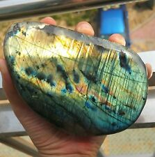 802g Natural Labradorite Crystal Rough Polished rock From Madagascar